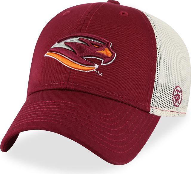 Susquehanna-University-River-Hawks-Trucker-Mesh-Structured-Adjustable-Cap-With-3D-Raised-Embroidery-957